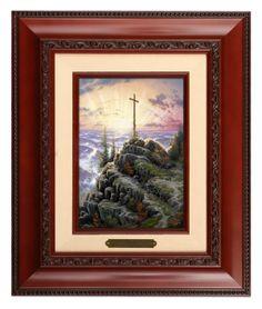 Sunrise - Brushwork (Brandy Frame) by Thomas Kinkade