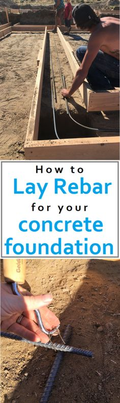 How to lay rebar for your concrete foundation. Cost and time outline. How to build your own house