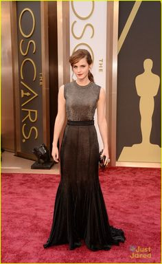 Emma Watson seems to float over the red carpet at the 2014 Academy Awards held at the Dolby Theatre on Sunday evening (March 2) in Hollywood...