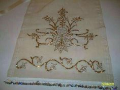 Wedding Embroidery, Gold Embroidery, Embroidery Needles, Hand Embroidery Designs, Embroidery Dress, Gold Work, Bargello, Cutwork, Design Elements
