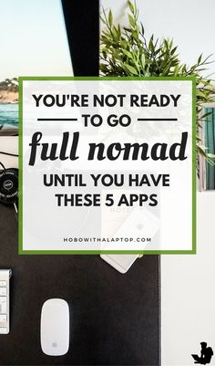 If you're already a digital nomad or are likely to become one soon, take a look at these five apps that many people like you are already using to make their dream of traveling possible and to use the given freedom to the fullest extent. Read more at http://hobowithalaptop.com/5-more-digital-nomad-apps