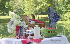 Red, White & Blue for Your Table Too!