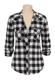 cute casual flannel shirt for women - Google Search