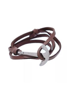 Anchor brown leather bracelet. 56cms. Style for men/women. 25€. Shipping worldwide. Paypal accepted.