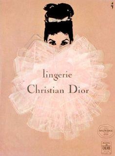 Photogenic Lingerie  : Diorランジェリーのvintageイラスト