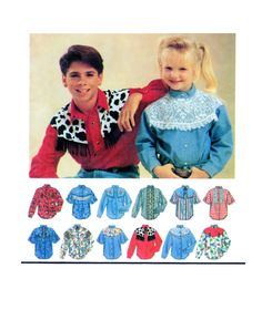 Teen Country Western Shirt Simplicity 8753 Multi Style Option Button/Snap Front Collared Shirt Size: 7-8-10-12 UNCUT by FindCraftyPatterns on Etsy
