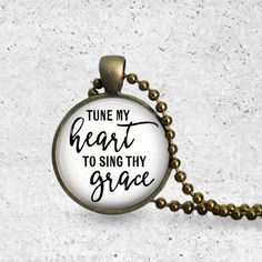 Come Thou Fount, Hymn Necklace, Adoption Fundraiser, Music Note, Music Jewelry, Music Note Necklace, Hymn Pendant, Tune My Heart To Sing Thy by TheCopperAnchor on Etsy https://www.etsy.com/listing/276476500/come-thou-fount-hymn-necklace-adoption
