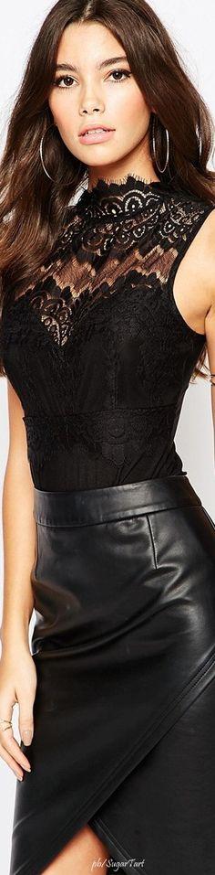 Black Leather Skirt ❤