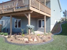 Ideas Backyard Deck Landscaping Rocks For 2019