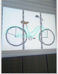 Vintage Bicycle Art, Vintage Bicycles, Bicycle Deck, Paris Rooms, Pallet Art, Bike Art, Craft Gifts, Artsy Fartsy, Interior Inspiration