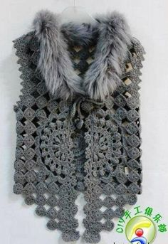 Todo para Crear ... : Todo chaleco en crochet y dos agujas