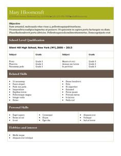 tabular resume templates 15 organized structured layouts for one page resumes