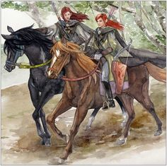 Amrod and Amras.... The six and seventh, twin sons of Fëanor.