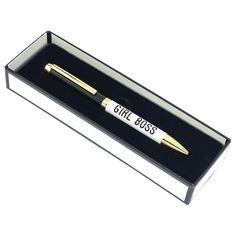 Chic Girl Boss Gift Pen for your girlfriend who landed a new job and is moving away. (Long distance friendship gifts)