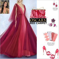 The Oscars Red Carpet by atelier-briella on Polyvore featuring LUISA BECCARIA, Christian Louboutin, Sara Battaglia, Cassandra Goad, Music Notes, RedCarpet, chic and iPhonecases