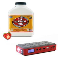 New Advanced Formula MRE Meals Ready-to-eat Survival Ration 15-day Supply Ultimate Bugout Food 25 Years shelf life Gluten Free and Non-GMO (Strawberry Flavor) + Emergency Replacement Power Bank 12000mAh Portable Jump Starter 400A Peak External Battery Pack LB1 High Performance http://www.amazon.com/dp/B00PT6HZ6C/ref=cm_sw_r_pi_dp_KfjQub099JP0H