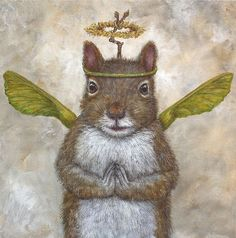 Angel blake by vicki sawyer vicki sawyer squirrel art, art и Art And Illustration, Illustrations, Squirrel Art, Cute Squirrel, Squirrels, Fantasy Kunst, Fantasy Art, Whimsical Art, Animal Paintings