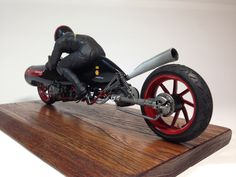 """Bonneville Racer"" 1/12 scale. By Katoya. #motorcycle #figure_model #kitbash http://www.hasegawa-model.co.jp/jp/work/10bonneville/"