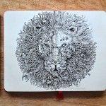 Explosive Moleskine Doodles by Kerby Rosanes
