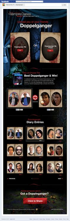 Vampire Diaries Campaign, Warner Bros by Fred Nerby, via Behance