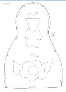 Moldes Para Artesanato em Tecido: peso de galinha com molde
