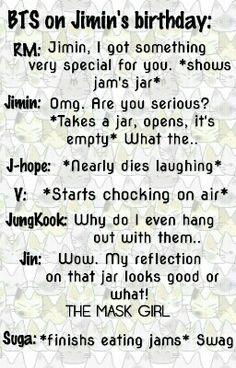 BTS Jimin's birthday. Written by the mask girl