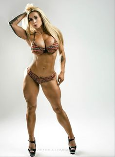 BEAST MODE!!! MUSCULAR DRAM BIKINI BODY of tattooed Spanish-Brazilian #Fitness model Victoria Lomba : if you LOVE Health, #Fitspo & Female Bodybuilding - you'll LOVE the #Inspirational designs at CageCult Fashion: http://cagecult.com/mma