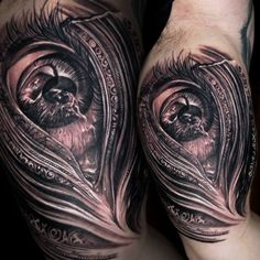 Black & Gray Tattoo By Tony Mancia