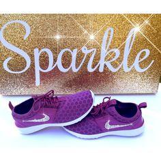 395307c6b88a New Blinged Out Eggplant Nike Juvenate Swarovski Nikes Bling Nikes... ( 175)