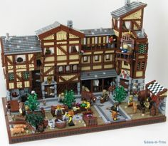 LEGO medieval market. On Lego Ideas, it has reached 10,000 supporters!