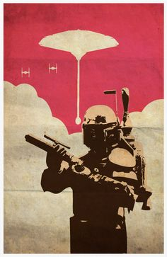 Star Wars Boba Fett Vintage 11X17 Poster Print by Posterinspired