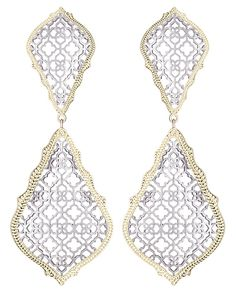 Adela Statement Earrings in Silver - Kendra Scott Jewelry. Coming July 15!