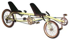 Our TradeWinds Recumbent Tandem Bike is a hybrid short and long wheelbase tandem bike with an efficient drive train. Includes under seat steering and full back seats. www.AtomicZombie.com