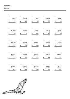 Fichas De Primaria De Multiplicaciones Multiplicacion Actividades De Comprensión Matematica Ejercicios