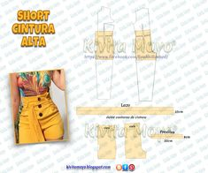 Dress Sewing Patterns, Sewing Patterns Free, Vintage Patterns, Clothing Patterns, Textile Patterns, Sewing Clothes Women, Barbie Clothes, Diy Clothes, Sewing Shorts