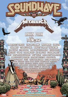 Soundwave 2013  metallica blink 182 linkin park tour poster
