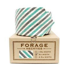 mint stripe necktie from forage Clever Packaging, Packaging Design, Wedding Mint Green, Daddy Day, Luxury Wedding Invitations, Men Formal, Mint Color, Wedding Trends, Wedding Ideas
