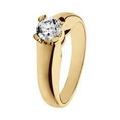 Engagement Ring Turin in 18-carat yellow gold with brilliant of 0.5 carat | RenéSim