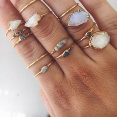 Raw Opal Ring Gold Raw Opal Ring - Indie and Harper. Gold Raw Opal Ring - Indie and Harper. Cute Jewelry, Boho Jewelry, Jewelery, Silver Jewelry, Jewelry Accessories, Women Jewelry, Silver Ring, Gold Jewellery, Jewelry Sets