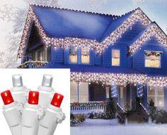 70 M5 Blue LED Icicle Lights | Icicle lights, Christmas lights and ...
