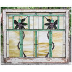 Sharing is caring!  G14053 - Antique Arts and Crafts Stained Glass Window #https://www.pinterest.com/munlimited/