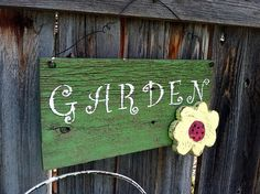 Reclaimed Wood Personalized Garden Sign