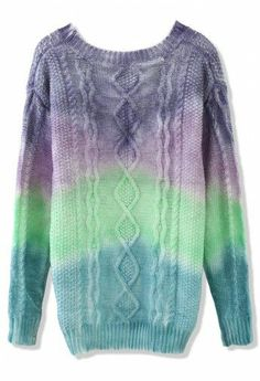 Have too many white chunky sweaters? Just dye them!