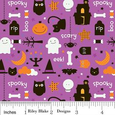 Trick or Treat by Riley Blake by SewModDesigns on Etsy