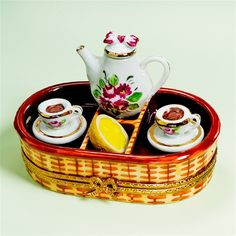 Limoges Tea for Two on Tray Box The Cottage Shop
