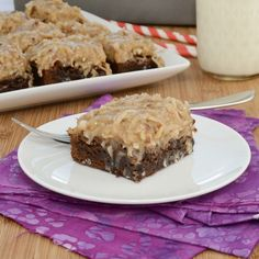 German Chocolate Brownies (Sweet Pea's Kitchen)