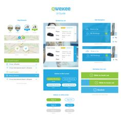 """Car rental APP """"Qwekee"""" design for iPhone. // Mobiliosios programėlės """"Qwekee"""" vartotojo sąsajos dizainas."""