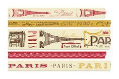 Cavallini & Co.  Decorative Paper Tape Set / Paris / 5 roll  KB:  Remember Paris?