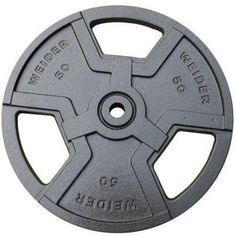 Weider Standard Hammertone Weight Plate, Black, Gray