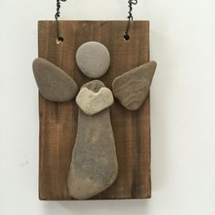 Lake Michigan beach rock Angel  Cottage art  von OnCloudNineDesign